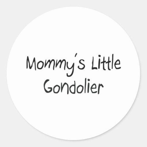 Pequeño gondolero de Mommys Pegatinas