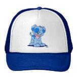 Pequeño gorra azul del camionero del perrito