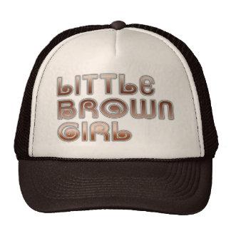 Pequeño gorra del chica de Brown