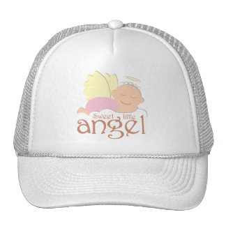 Pequeño gorra dulce del camionero del ángel