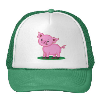 Pequeño gorra lindo del cerdo