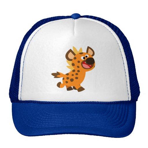 Pequeño gorra lindo del Hyena del dibujo animado