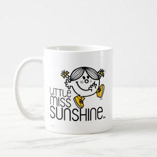 Pequeño gráfico de Srta. Sunshine Walking On Name Taza De Café