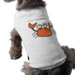 pequeño gráfico lindo del dibujo animado del cangr ropa de mascota