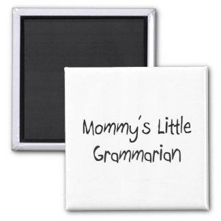 Pequeño gramático de Mommys Imán Cuadrado