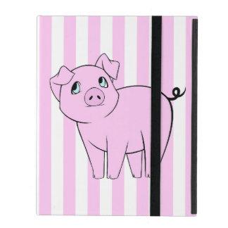 Pequeño guarro lindo (cerdo del bebé) - negro iPad cárcasa