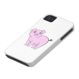 Pequeño guarro lindo (cerdo del bebé) - negro rosa