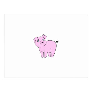 Pequeño guarro lindo (cerdo del bebé) - negro postales