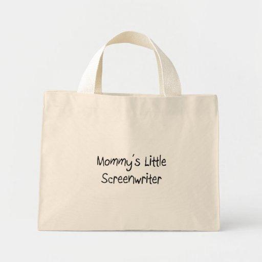 Pequeño guionista de Mommys Bolsa De Mano