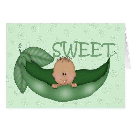 Pequeño guisante dulce tarjeta de felicitación