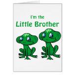 pequeño hermano de la rana tarjeta