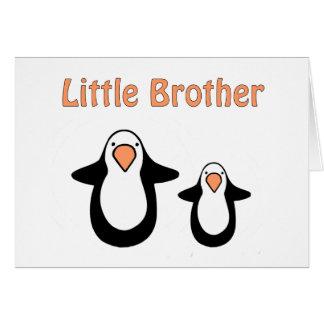 pequeño hermano del pingüino tarjetas