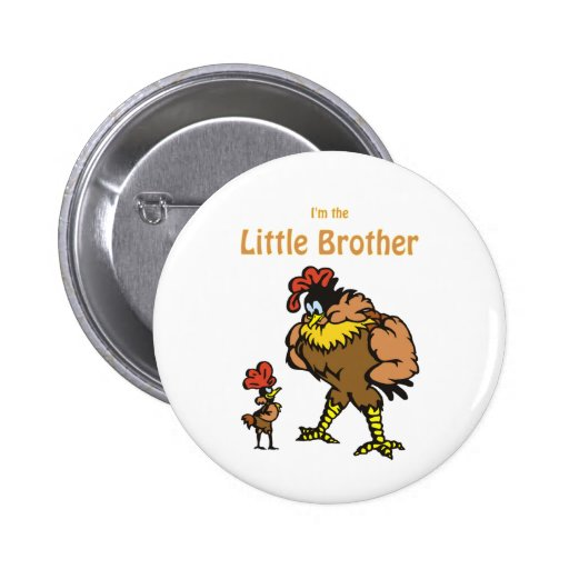 pequeño hermano del pollo pin redondo 5 cm