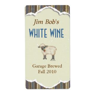 Pequeño hogar del cordero hecho etiquetas del vino etiqueta de envío