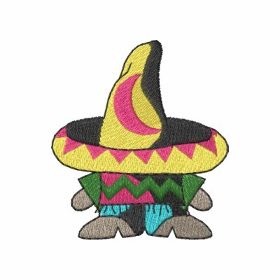 Pequeño hombre con el sombrero polo bordado