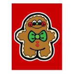 pequeño hombre de pan de jengibre lindo postal