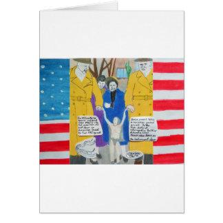 pequeño hombre extranjero 1952 estrellado tarjeta de felicitación