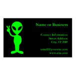 Pequeño hombre verde plantilla de tarjeta de negocio