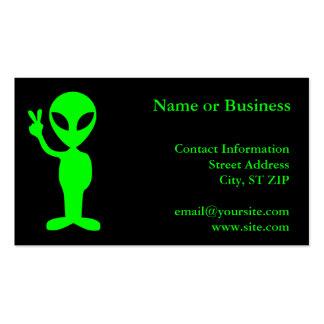 Pequeño hombre verde tarjetas de visita