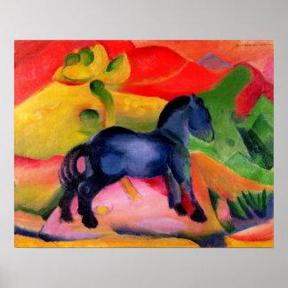 Pequeño Horse azul, 1912 Póster
