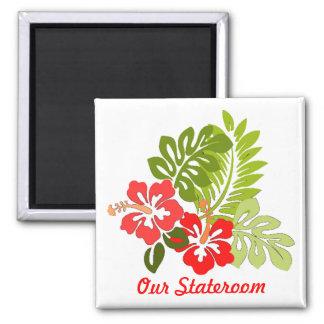 Pequeño imán de la puerta de Stateroom del hibisco