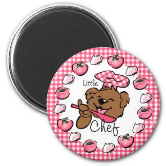 Pequeño imán del cocinero del oso (Rnd)