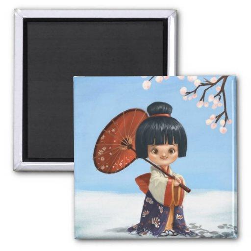 Pequeño imán del geisha