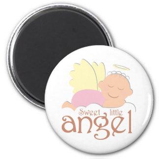 Pequeño imán dulce del logotipo del ángel