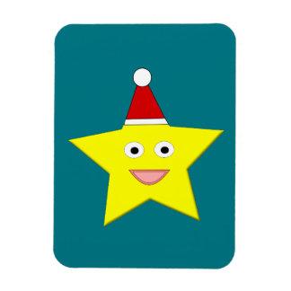 Pequeño imán feliz de la estrella del navidad
