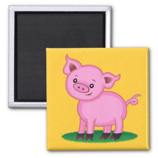 Pequeño imán lindo del cerdo