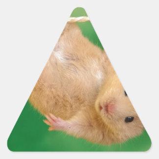 pequeño individuo divertido lindo pegatina triangular