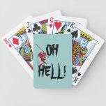 ¡Pequeño infierno del diablo rojo oh! Naipes del r Barajas