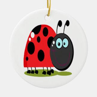 pequeño insecto feliz de la señora ornatos