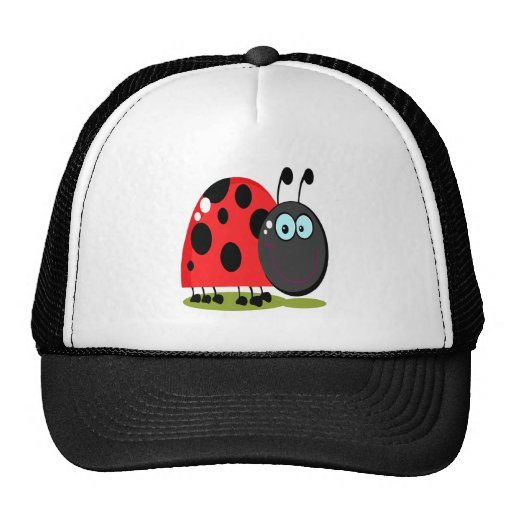 pequeño insecto feliz de la señora gorras de camionero