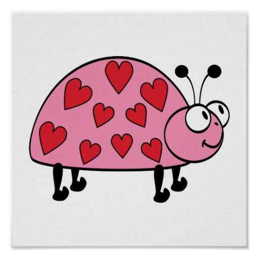 pequeño insecto lindo del amor póster