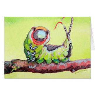 Pequeño insecto sonriente adorable tarjeta de felicitación