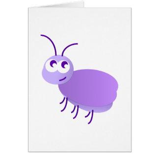 Pequeño insecto tarjeta de felicitación