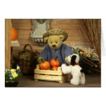 Pequeño jardinero de los osos pequeños felicitacion