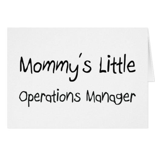 Pequeño jefe de explotación de Mommys Tarjeton