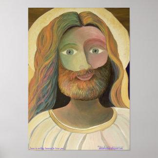 ¡(pequeño) Jesús está sonriendo porque él le ama! Póster