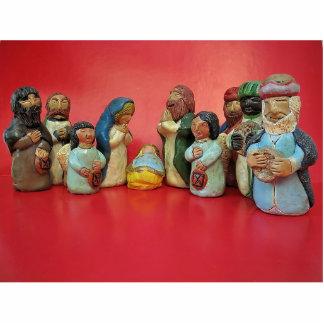 Pequeño Jesús, pesebre hecho a mano del navidad, ú Fotoescultura Vertical