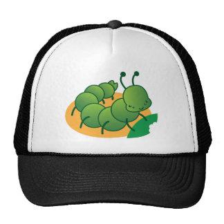 pequeño kawaii catterpillar lindo gorras