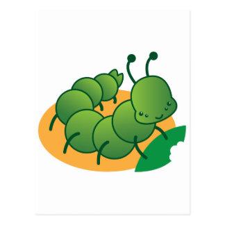 pequeño kawaii catterpillar lindo postal