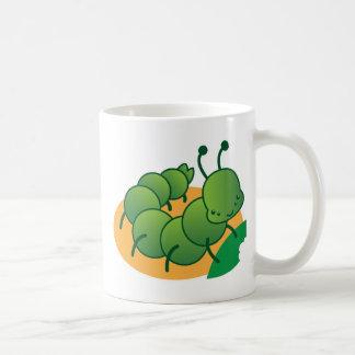 pequeño kawaii catterpillar lindo tazas de café