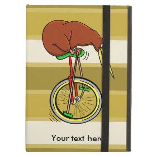 Pequeño kiwi de Brown en un Unicycle rojo