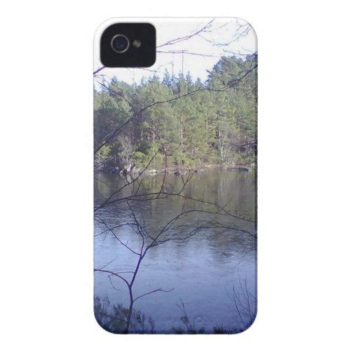 Pequeño lago Case-Mate iPhone 4 cárcasas