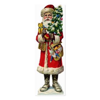 Pequeño lazo de la señal o del paquete de Santa Tarjetas De Visita Mini