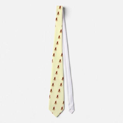 Pequeño lazo rojo de la gallina corbatas personalizadas