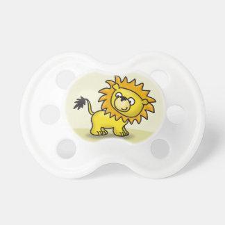 Pequeño león lindo chupete de bebe