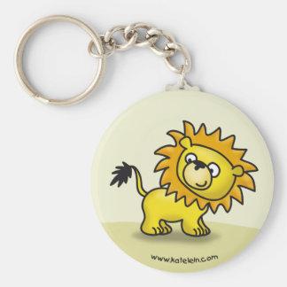 Pequeño león lindo llavero